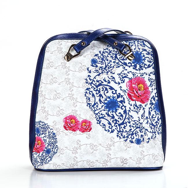 玫瑰有约帆布包定制日系夏帆布包文艺女包双肩帆布包袋