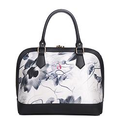 玫瑰有约古典真丝包女士大容量手提包中国风特色桑蚕丝手拎包